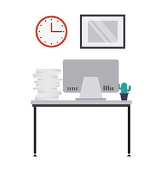 work place design vector image vector image