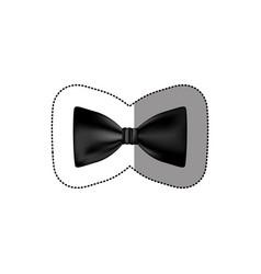 color sticker bow tie icon vector image