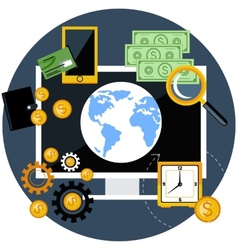Global finance and economy vector image