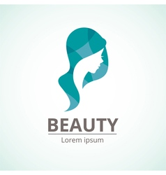 logo template for the beauty industry vector image vector image