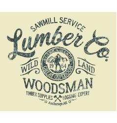 Sawmill service lumber company vector