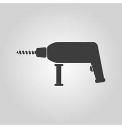 The drill icon Perforator symbol Flat vector image