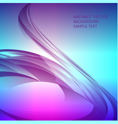 Abstract multicolored curve background with copy vector