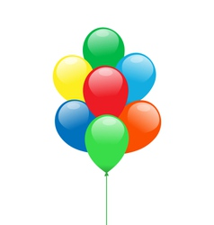 Balloons isolated on white vector