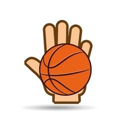 basketball sport design vector image