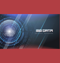 Big data abstract visualization futuristic vector