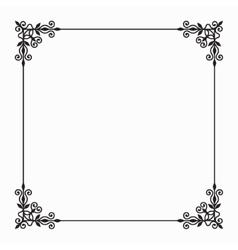 Black twirl frame on white background vector