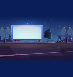 Blank billboard display on roadside white screen vector