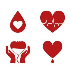 Blood donation design vector