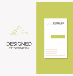 Business logo for hill landscape nature mountain vector
