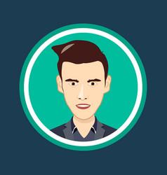 Cartoon human head icon face vector
