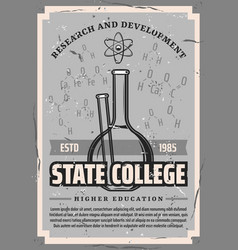 Chemistry and biology state college education vector