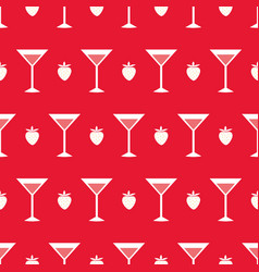 cocktails and strawberry vector image