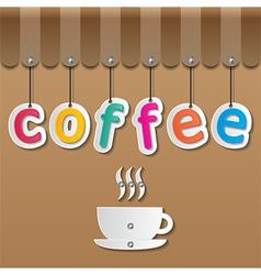 Coffee shopfront sign vector