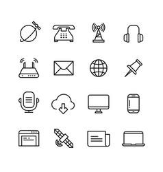 communication monitoring phone marketing and web vector image vector image