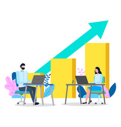 creative business growth graphics design vector image