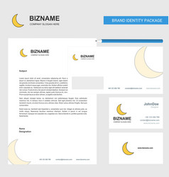 Cresent business letterhead envelope and visiting vector