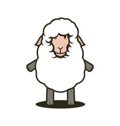 cute sheep mascot vector image