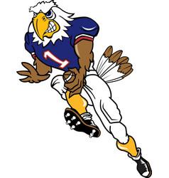 Eagle sports football logo mascot vector
