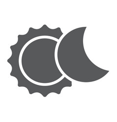 Eclipse glyph icon space and astronomy solar vector