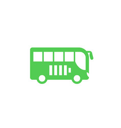 Electric bus icon side view vector