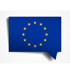 European Union flag paper 3d realistic speech vector image