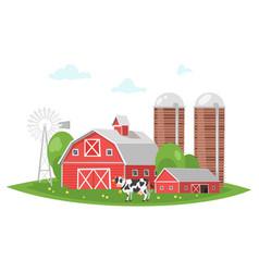 Farm building - rural barn vector