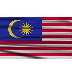Flag of Malaysia with old texture vector