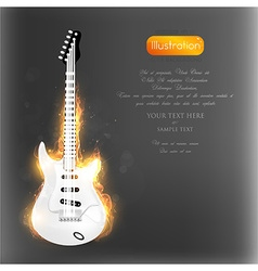 Flaming Guitar with Text Space vector