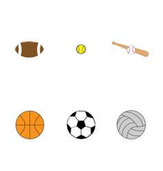 flat set of colorful balls for sport games vector image
