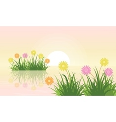 Flower landscape vector