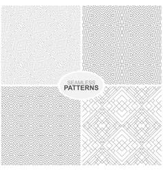 Geometric patterns - seamless collection vector image