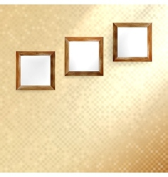Golden mosaic interior vector image