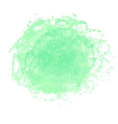 green watercolor stain isolated on white vector image