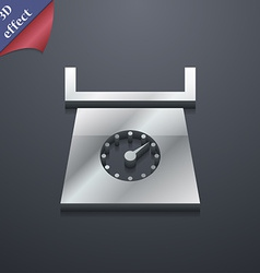 kitchen scales icon symbol 3D style Trendy modern vector image