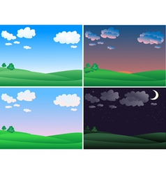 landscape time vector image