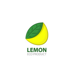 lemon eco product logo template vector image