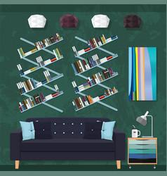 Living room decor vector