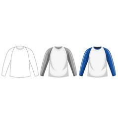 long sleeve shirt isolated vector image