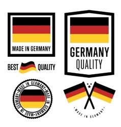 Made in germany label set national flag vector