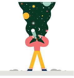 man exploring space flat vector image