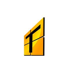 Modern logo solution letter t vector