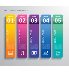 paper tab infographic vector image