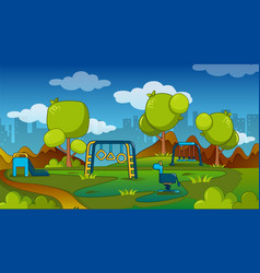 playground concept cartoon style vector image