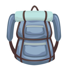 rucksack with mat for sleeping traveling vector image