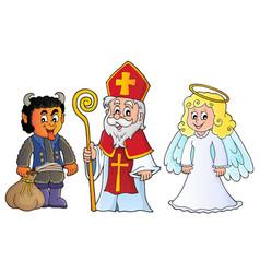 Saint nicholas day theme 6 vector