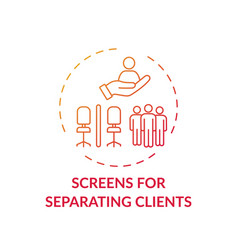 Screens for separating clients concept icon vector