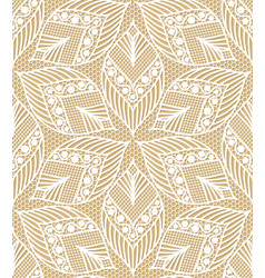 Seamless lace pattern made of abstarct ethnic vector