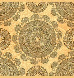 seamless pattern with ethnic elements and vector image
