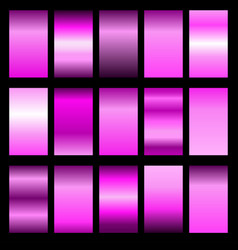 Set pink gradients vector